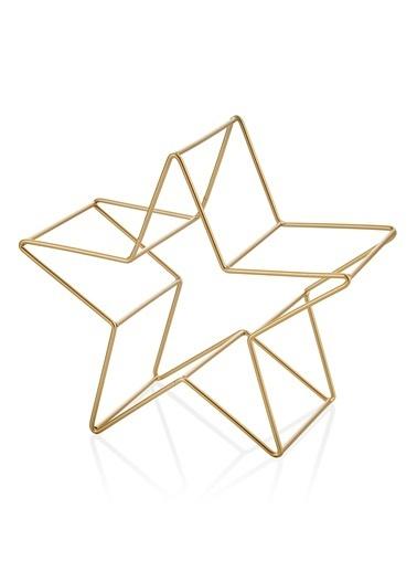 The Mia Dekor- Yıldız- Gold - 20*10*19 Cm Altın